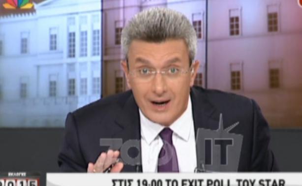 Εκλογές 2015: Χαμός την ώρα των exit poll - «Τίναξε» στον αέρα ο Χατζηνικολάου το ρολόι!