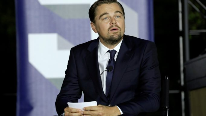 Actor Leonardo DiCaprio speaks during a discussion on the importance of protecting the one planet at the South by South Lawn event at the White House in Washington, U.S., October 3, 2016. REUTERS/Yuri Gripas
